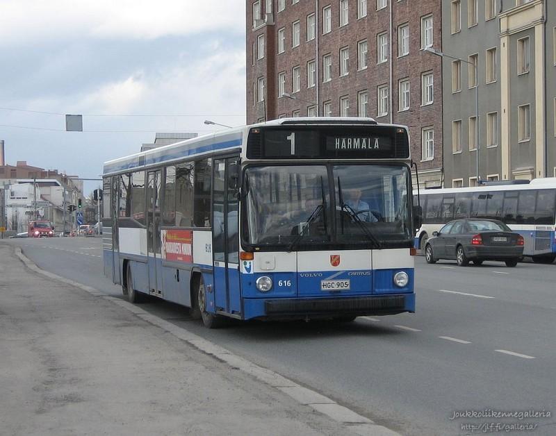 Tampereen Kaupungin Liikennelaitos 616