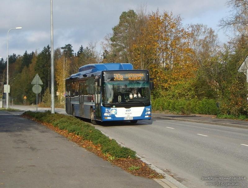 Helsingin Bussiliikenne 734