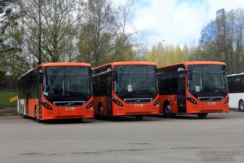Helsingin Bussiliikenne 1502, 1503 ja 1504