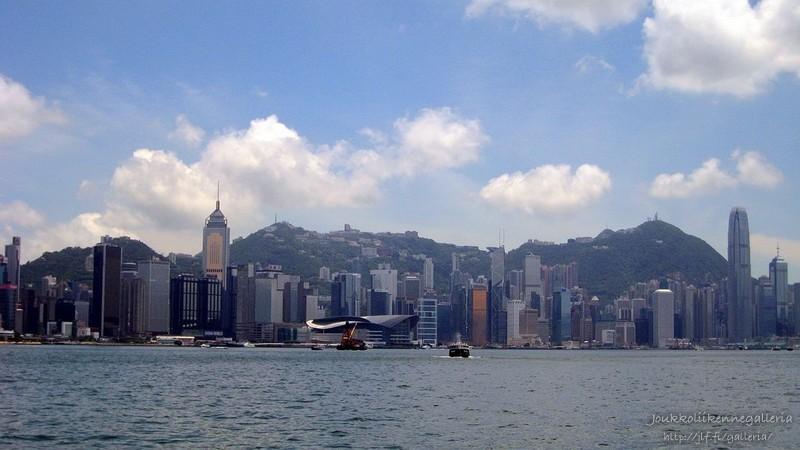 Hong Kongin saaren silhuetti
